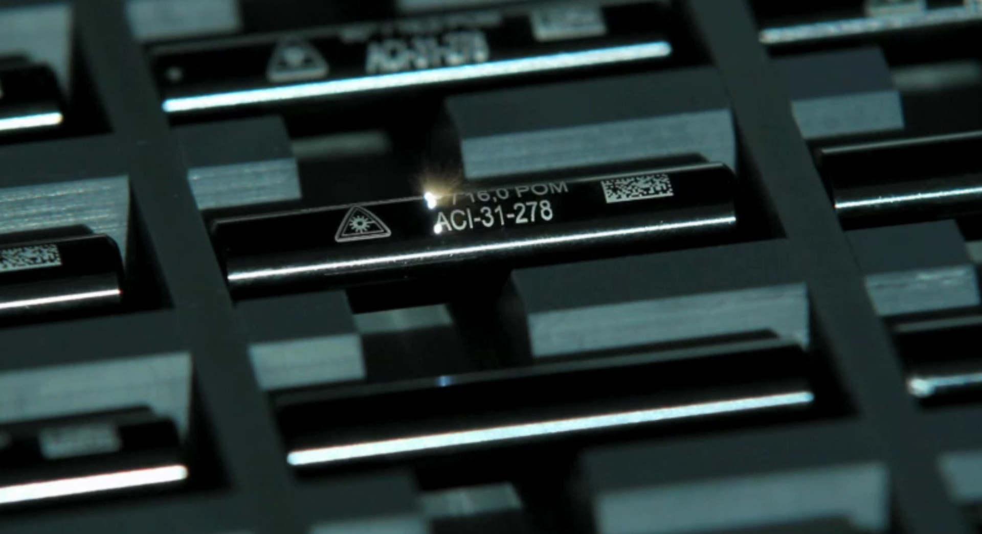 Exemple de marquage sur du métal avec un laser ACI