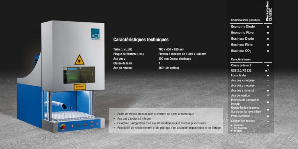 Station de marquage au Laser Workstation Classic